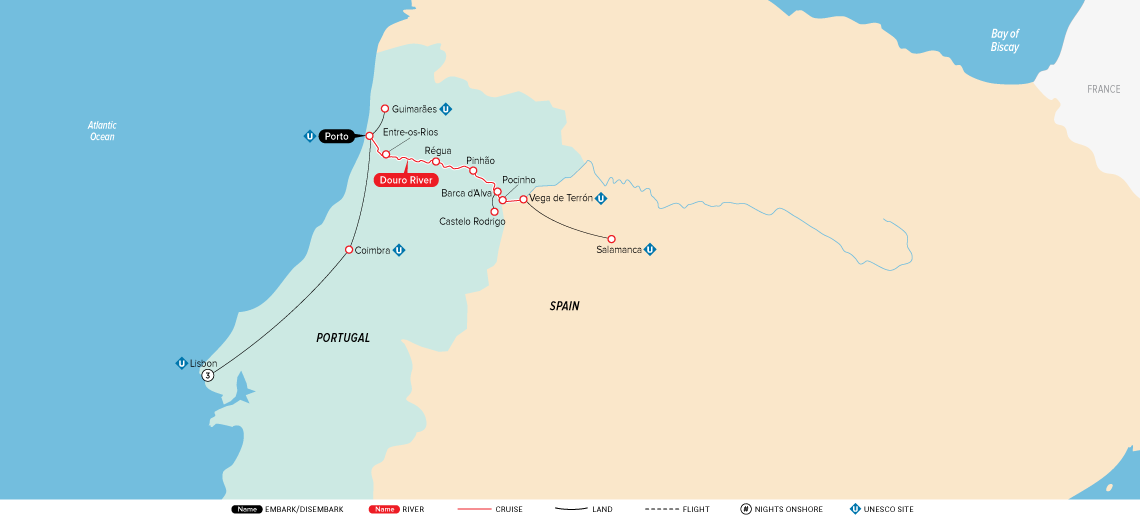 Map Of Portugal And Spain Detailed.Portugal Spain The Douro River Valley 2019 Europe River Cruise