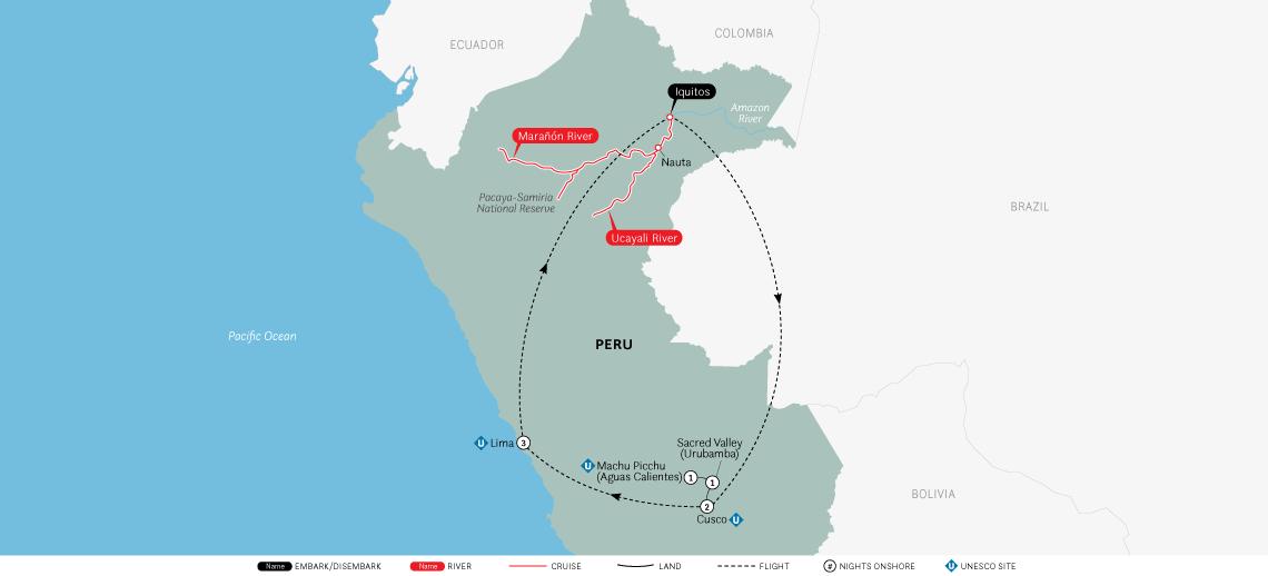 peruvian-amazon-&-machu-picchu-exploration-map