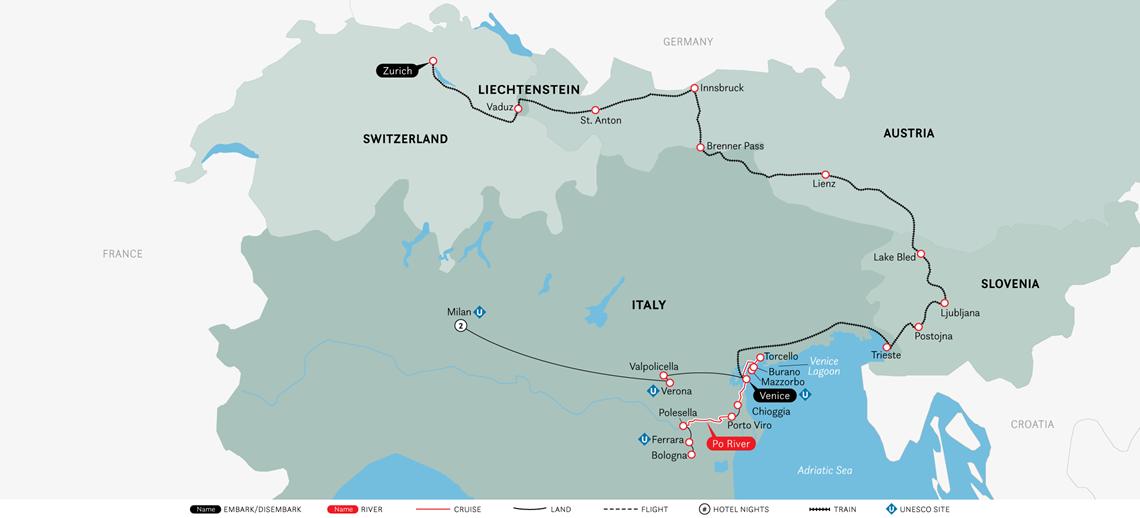 cruise-&-rail:-milan,-venice-&-the-swiss-alps-(2021)-map