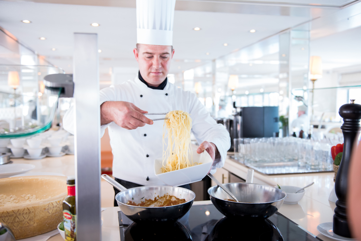 Savoy Restaurant pasta service (River Countess)