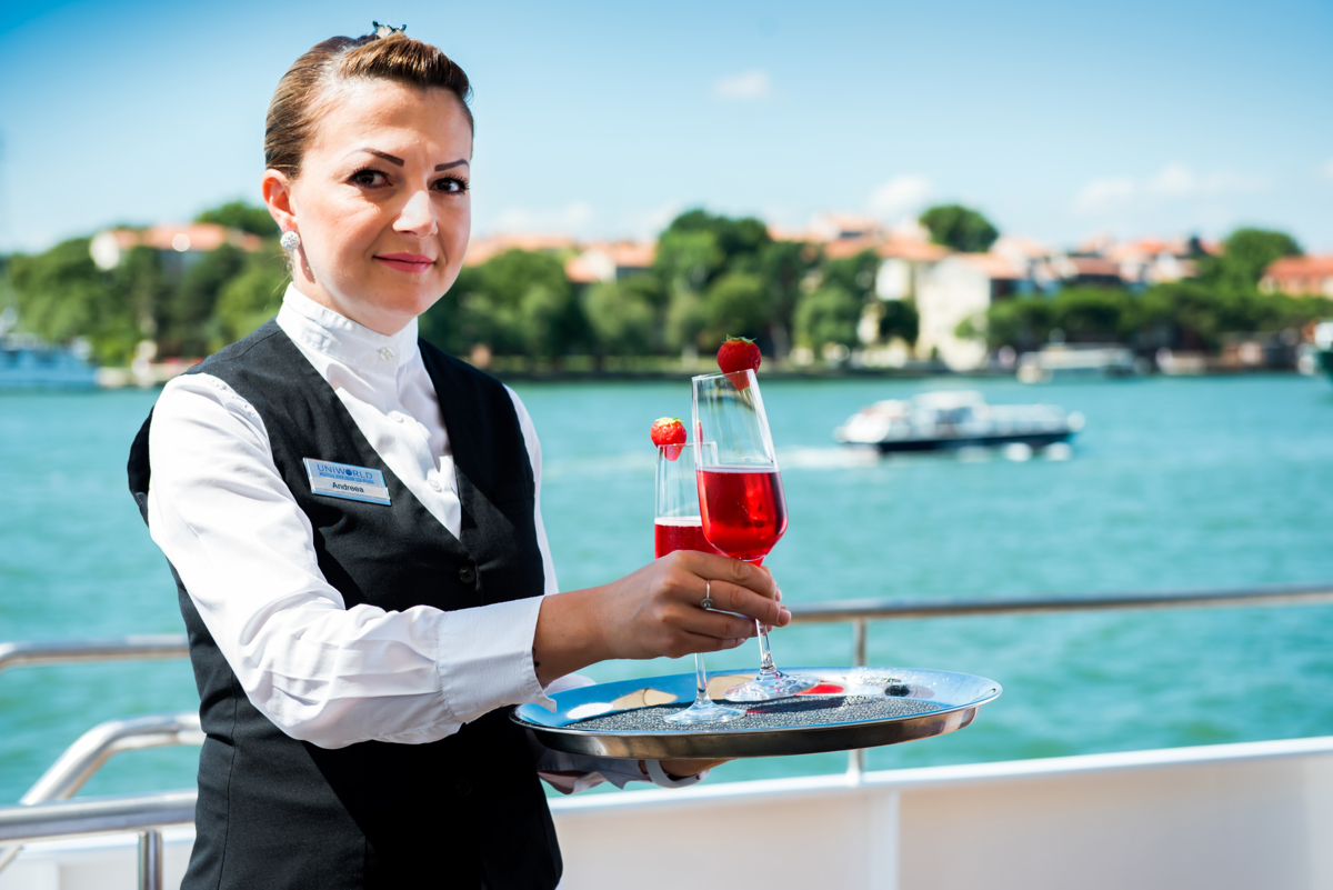 Sun deck service (River Countess)